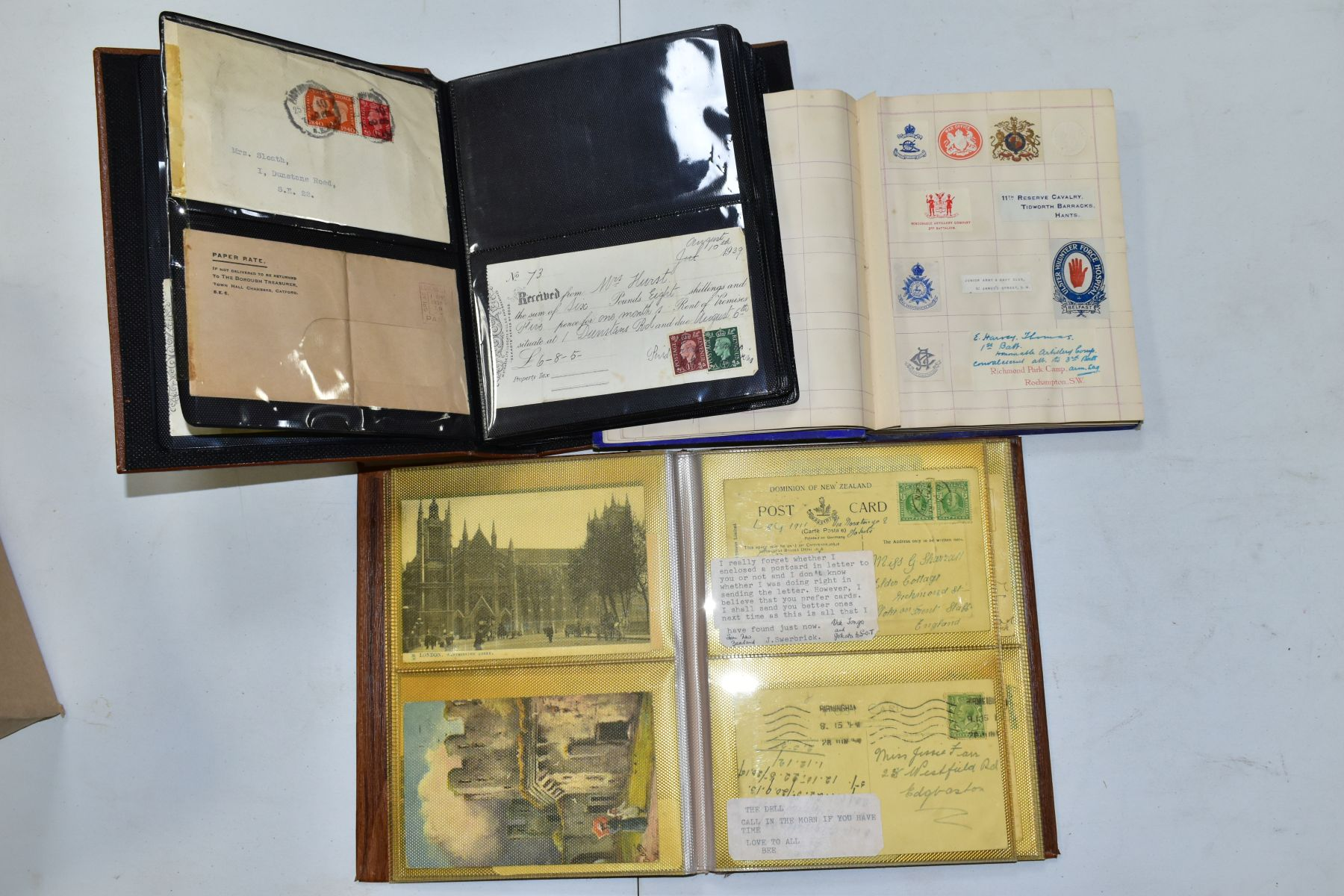 EPHEMERA AND POSTAL HISTORY, three albums containing an unusual collection of Arms and Crests, - Image 2 of 8