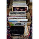 TWO TRAYS CONTAINING OVER TWO HUNDRED AND TWENTY LPs AND 7IN SINGLES artists include The Byrds, Jimi