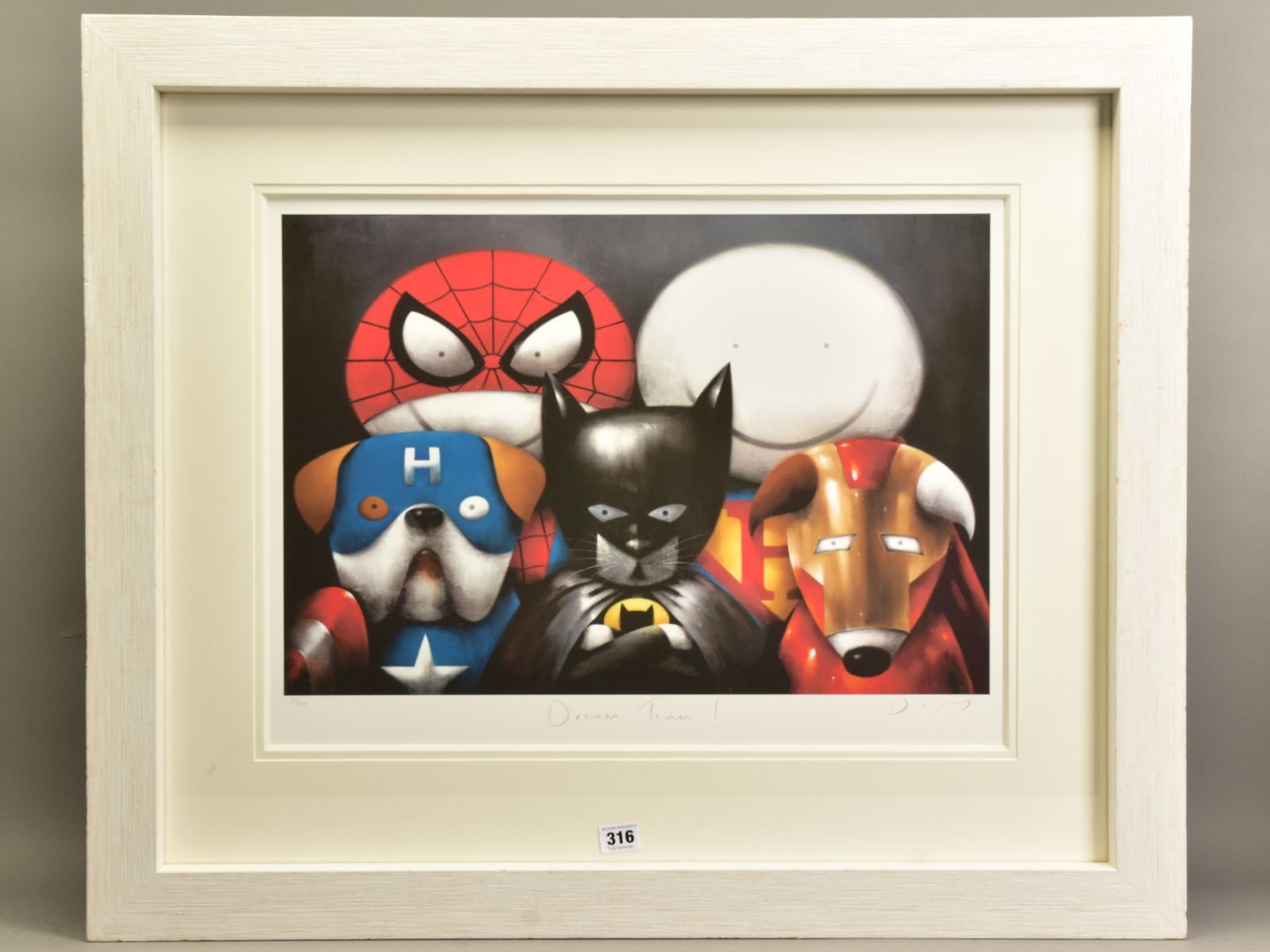 DOUG HYDE (BRITISH 1972) 'DREAM TEAM' a limited edition print of Superheroes in Disguise 213/295,