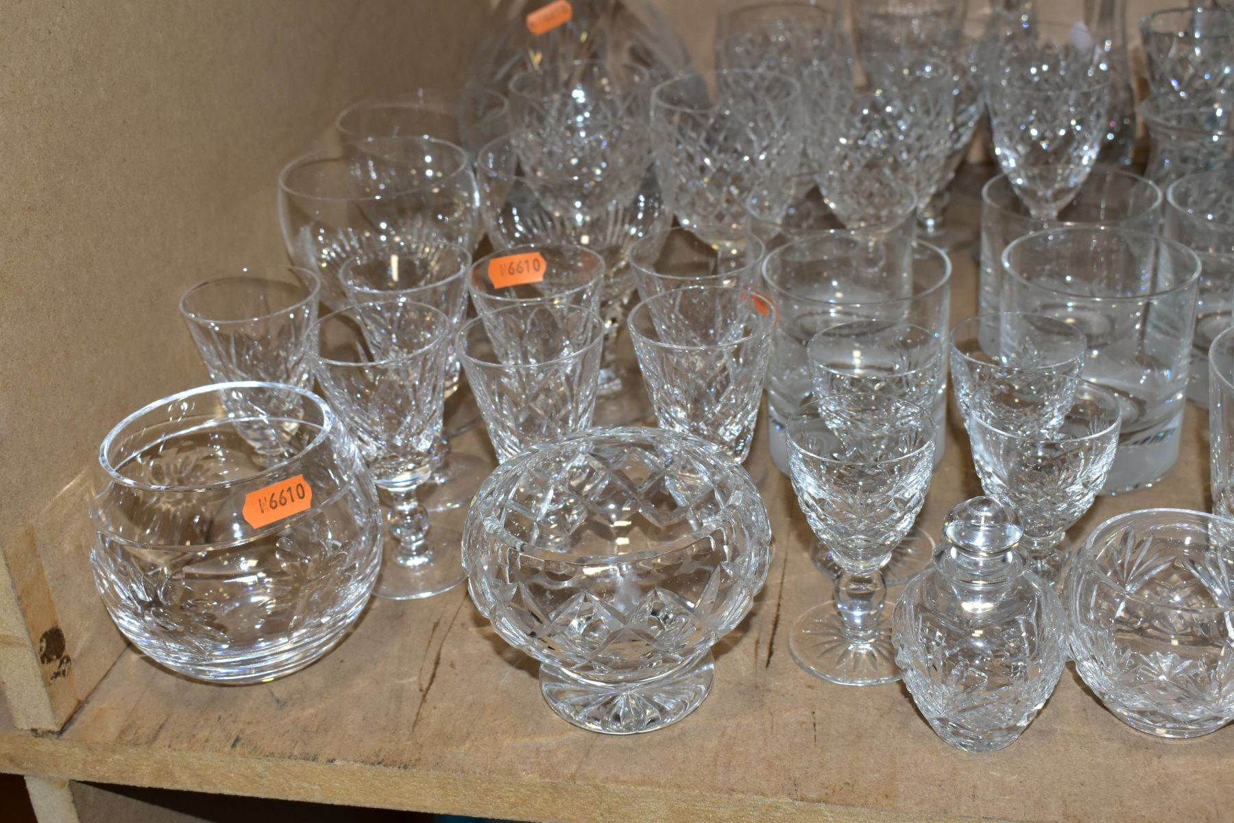 A GROUP OF GLASSWARE, including a boxed set of six Crystallera F.lli Fumo wine glasses, one set - Image 7 of 11