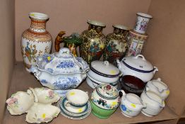 A CROWN DUCAL PART DINNER SERVICE, with miscellaneous ceramics etc, the Crown Ducal dinner service