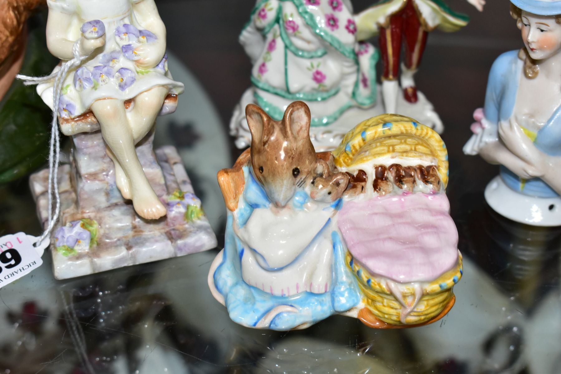 A SMALL GROUP OF ORNAMENTAL CERAMICS, comprising a Royal Worcester 'Sunshine' figure modelled by - Image 2 of 7