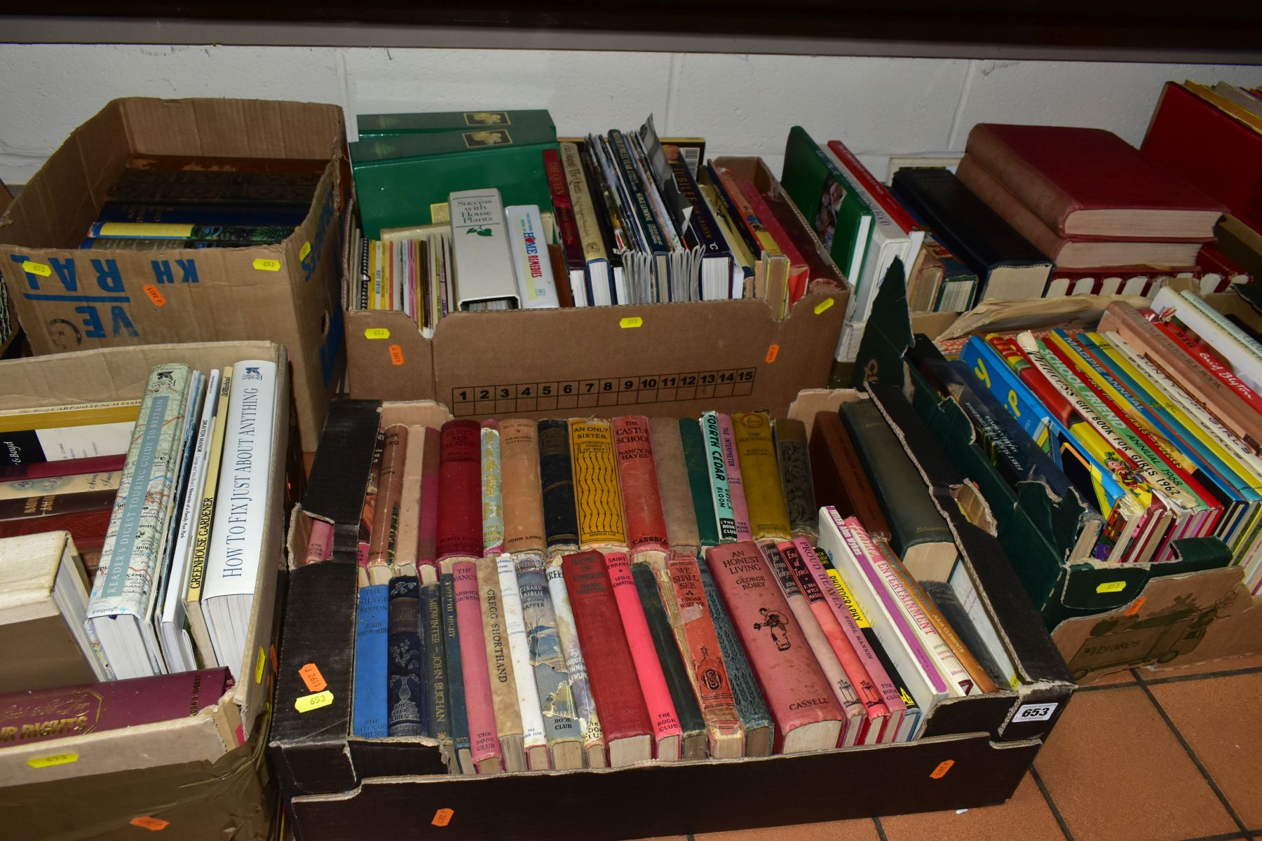 BOOKS, six boxes of over one hundred and twenty five miscellaneous titles to include Royal