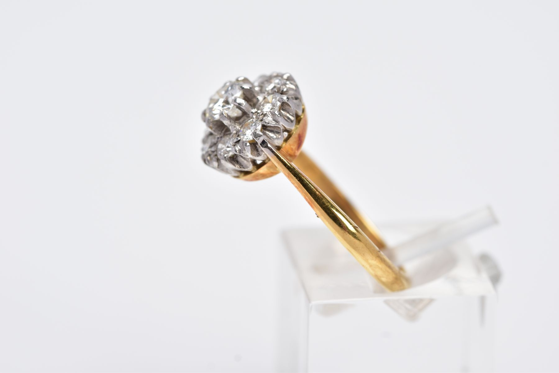 A LATE 20TH CENTURY ROUND DIAMOND CLUSTER RING, centring on a modern round brilliant cut diamond, - Image 2 of 5