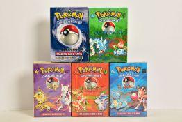 FIVE POKEMON BASE SET THEME DECKS UNOPENED AND SEALED, Pokemon 2-Player Starter Set, Overgrowth,