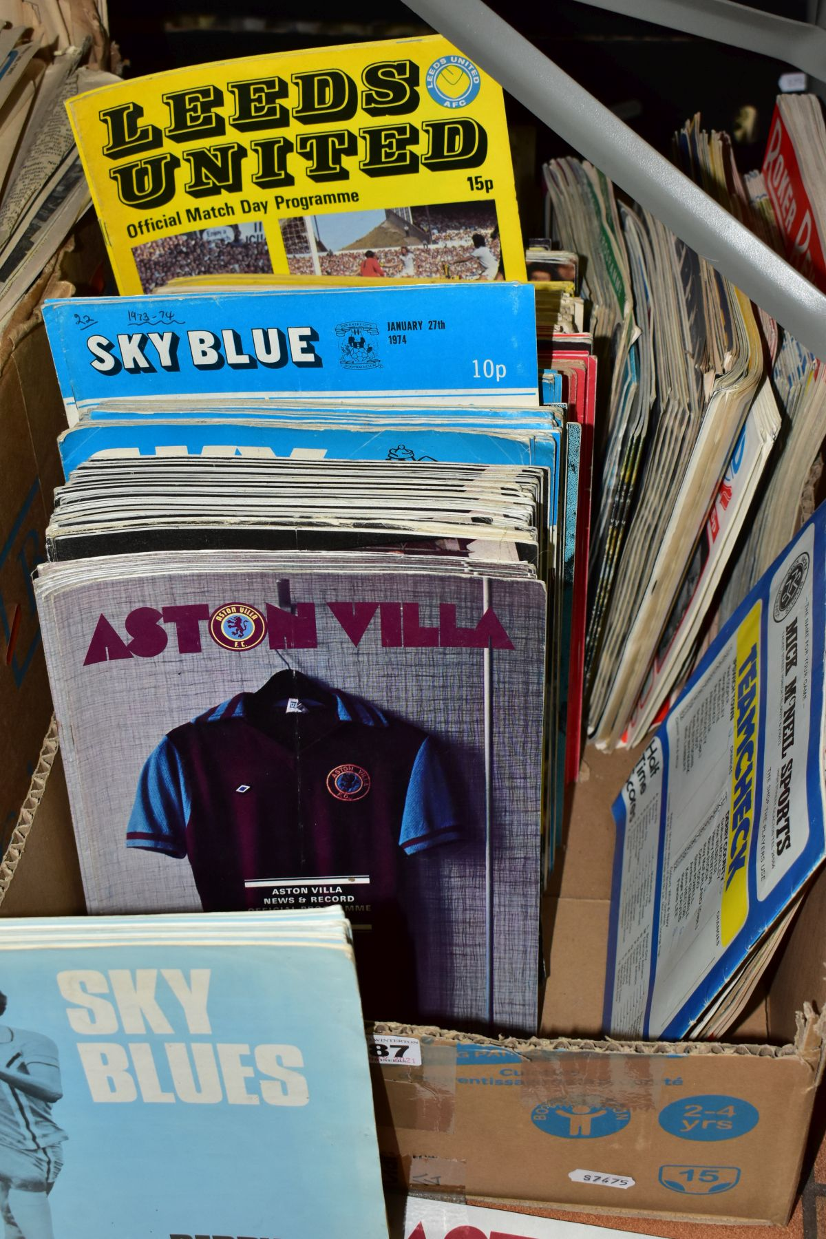 FOOTBALL PROGRAMMES, a large quantity of approximately three hundred to three hundred and fifty