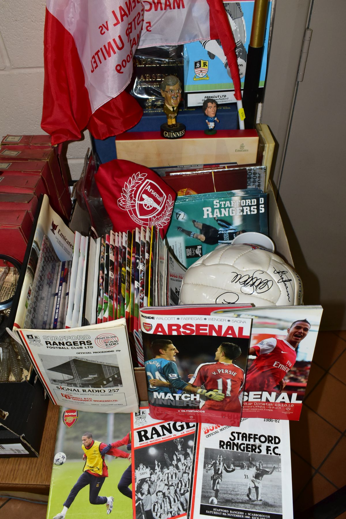 ARSENAL FOOTBALL CLUB MEMORABILIA to include a Football Ambassador book by Eddie Hapgood in a