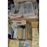 A QUANTITY OF PRINTED EPHEMERA, to include a collection of 1940's film star studio cards, many