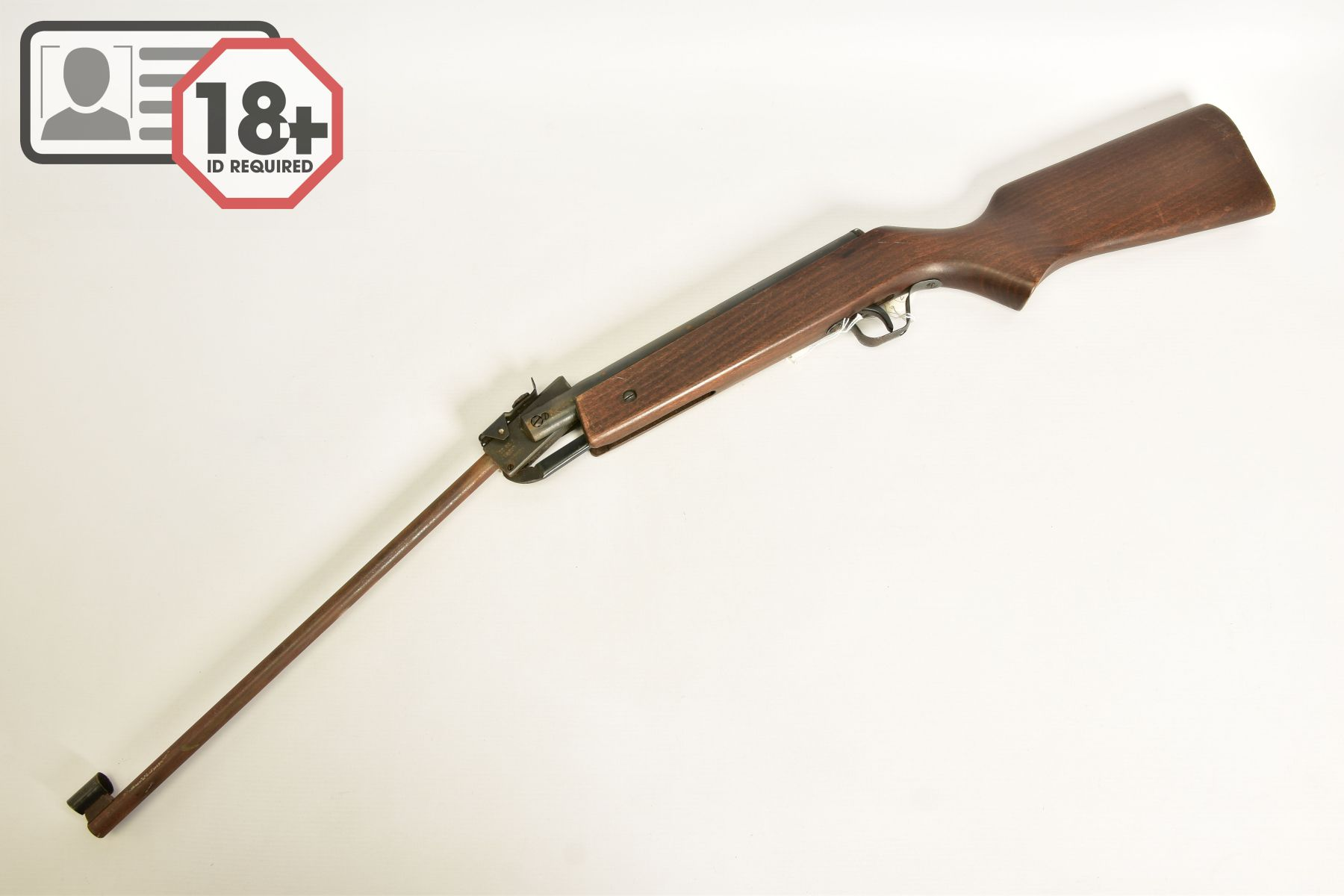 A .22'' BREAK ACTION SPRING AIR RIFLE, serial number 05 88 g in working order marked 'Made in