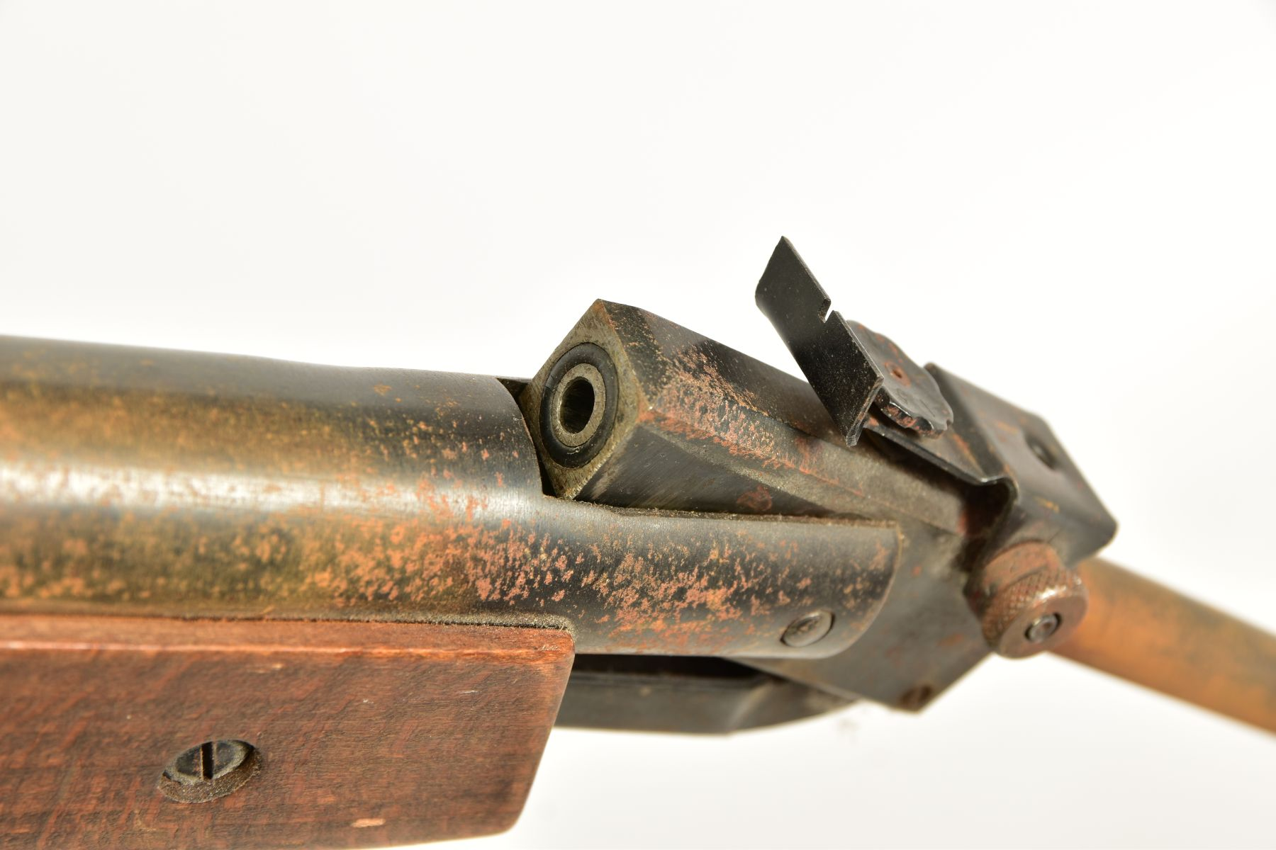 A .22'' BREAK ACTION SPRING AIR RIFLE, serial number 05 88 g in working order marked 'Made in - Image 7 of 12