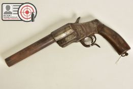 A 27MM HEBEL GERMAN WWI FLARE/SIGNAL PISTOL, in correct working order, the metal work has lost all