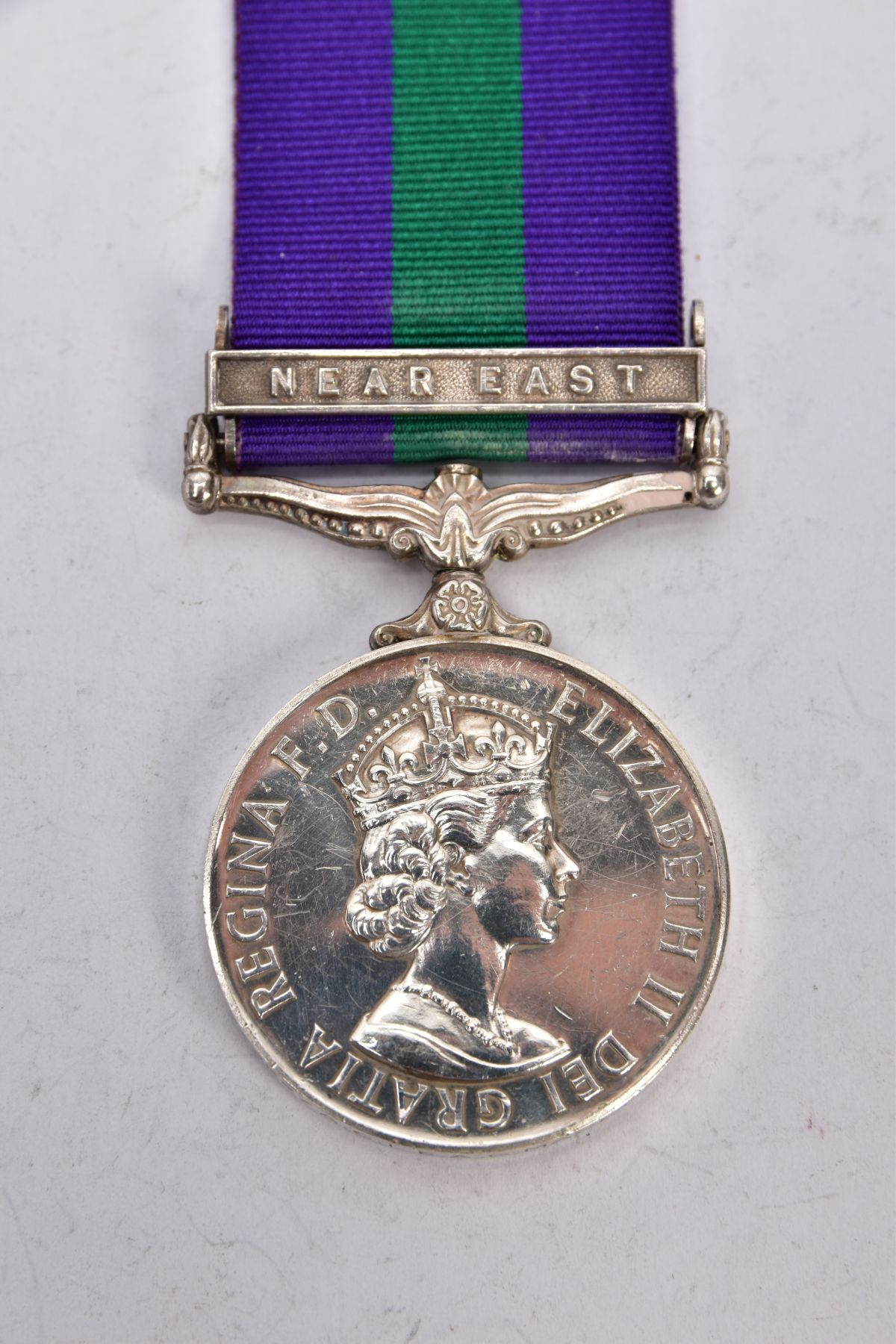 ERII GENERAL SERVICE MEDAL 1918-62 with near East bar named to 4173227 ACI EAG Macey RAF - Image 2 of 4