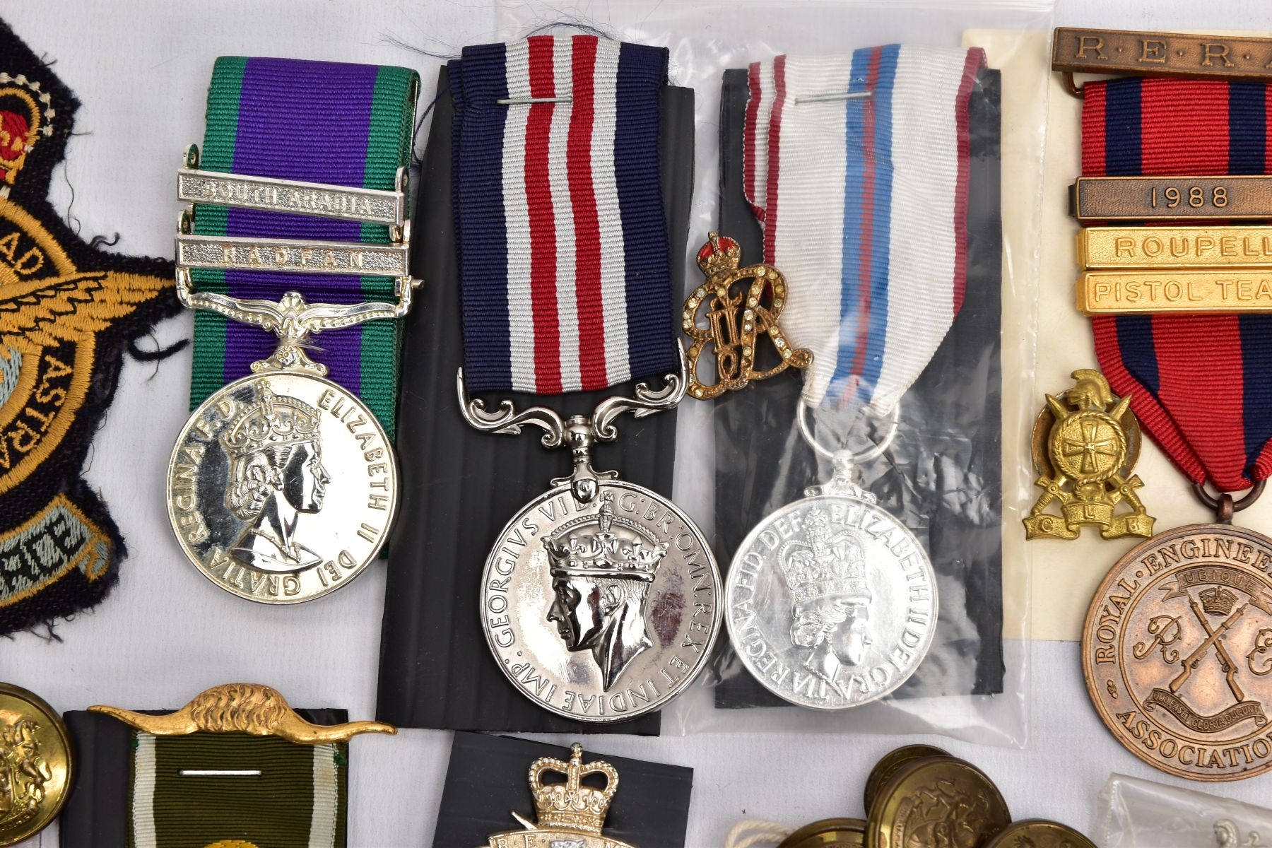 A BOX CONTAINING VARIOUS COPIES OF MILITARY RELATED MEDALS to include Military Medal Geo VI, GSM 2 - Image 2 of 8