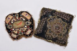 TWO STUFFED SMALL PILLOWS OF PRE WWI ERA, the type made to send to wives, sweethearts etc, usually