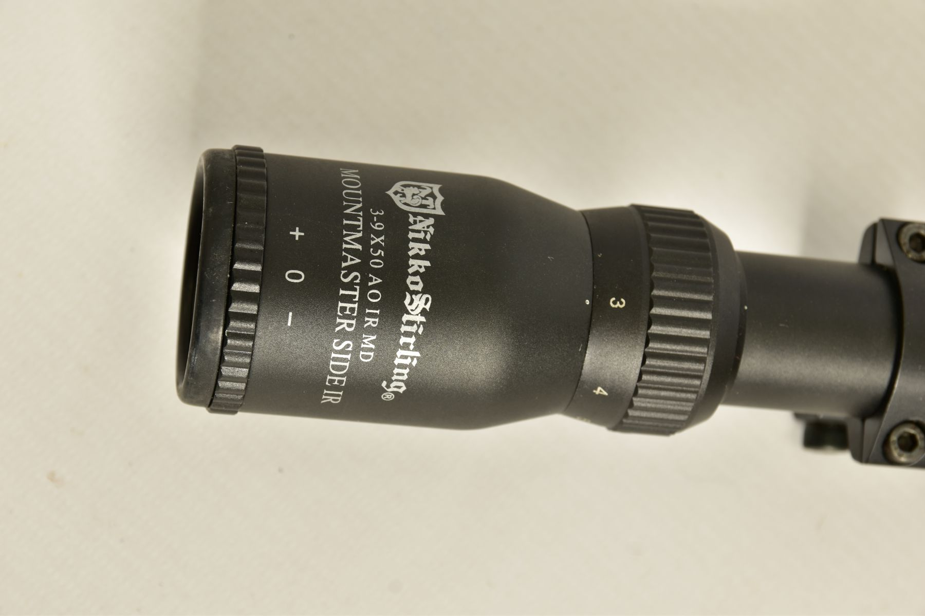 A NIKO STIRLING 3.9 X 50 RIFLE SCOPE and mounts, it appears to be in unused condition - Image 3 of 8
