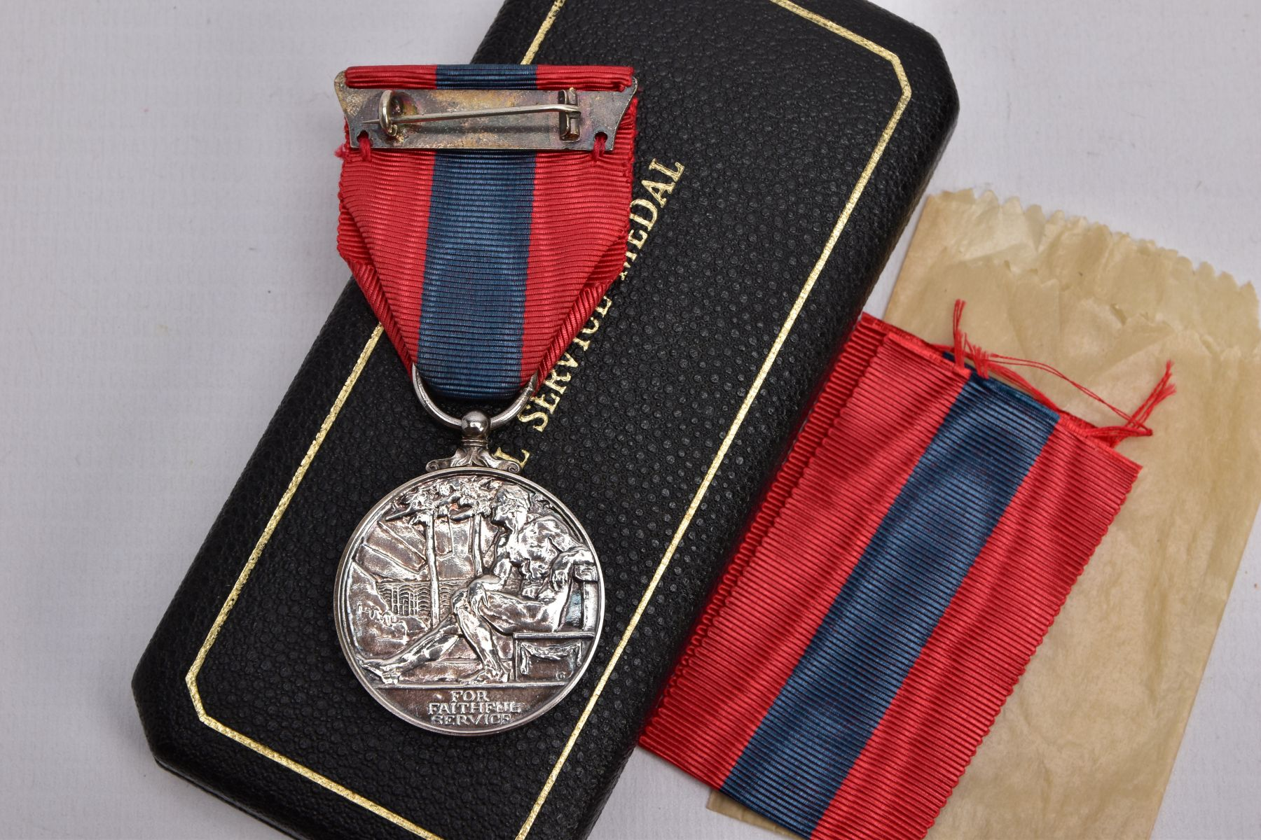 A BOXED ROYAL MINT IMPERIAL SERVICE MEDAL named to Hubert Martin, ERII Dei-Gratia 1955 version - Image 2 of 4