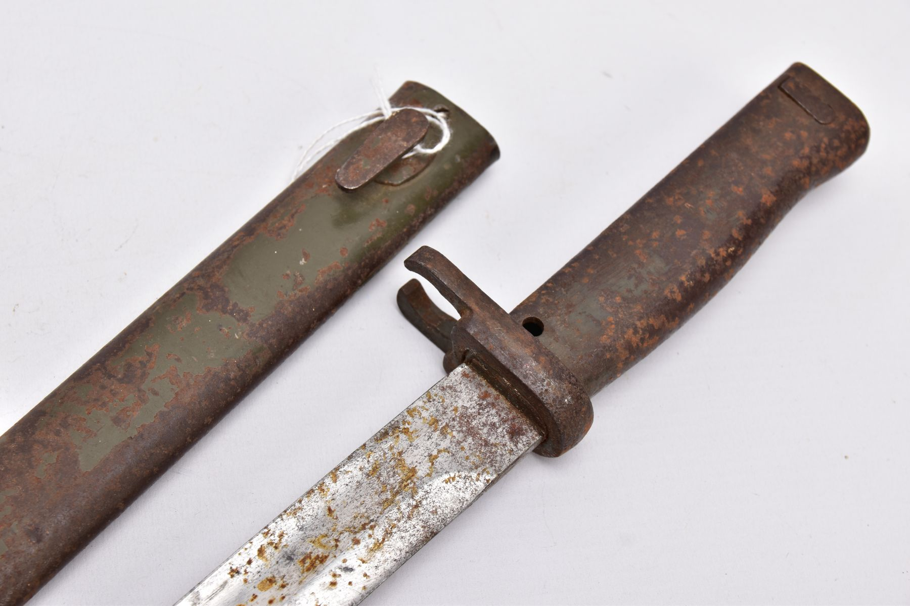 A GERMAN ERSATZ BAYONET AND SCABBARD, this example believed to be the shortened Turkish variant, - Image 3 of 6