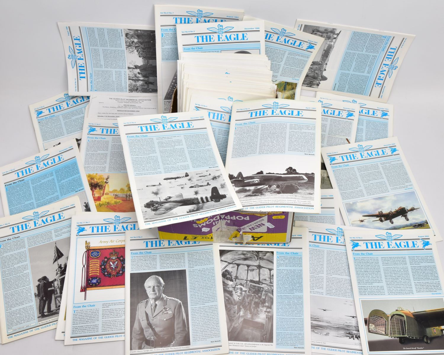 FIFTY SEVEN COPIES 'THE EAGLE', the official magazine of the Glider Pilot Regimental Association,