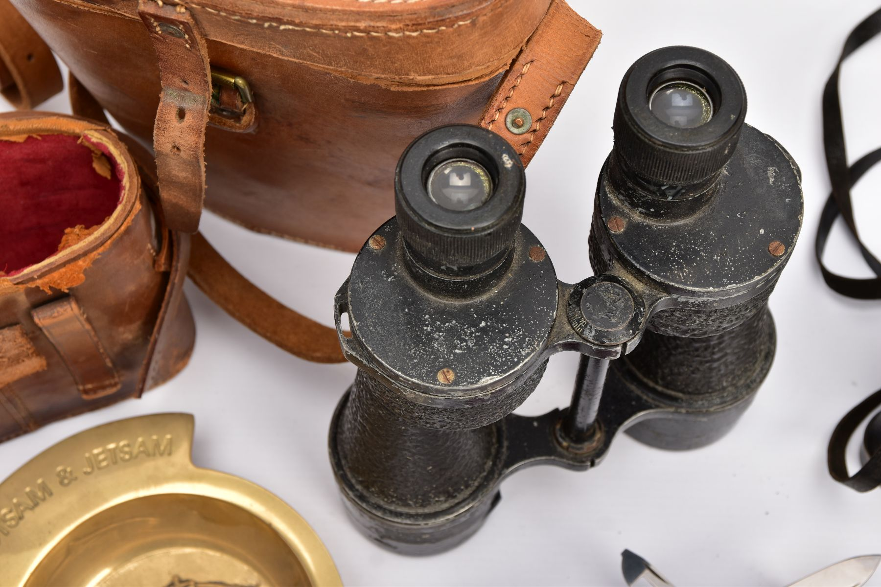 TWO BOXED PAIRS OF MILITARY BINOCULARS, one box marked Bino prism No.5 MKI, the other pair is crow - Image 4 of 8