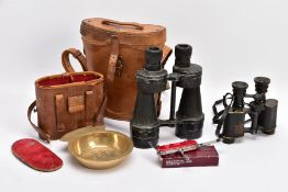 TWO BOXED PAIRS OF MILITARY BINOCULARS, one box marked Bino prism No.5 MKI, the other pair is crow