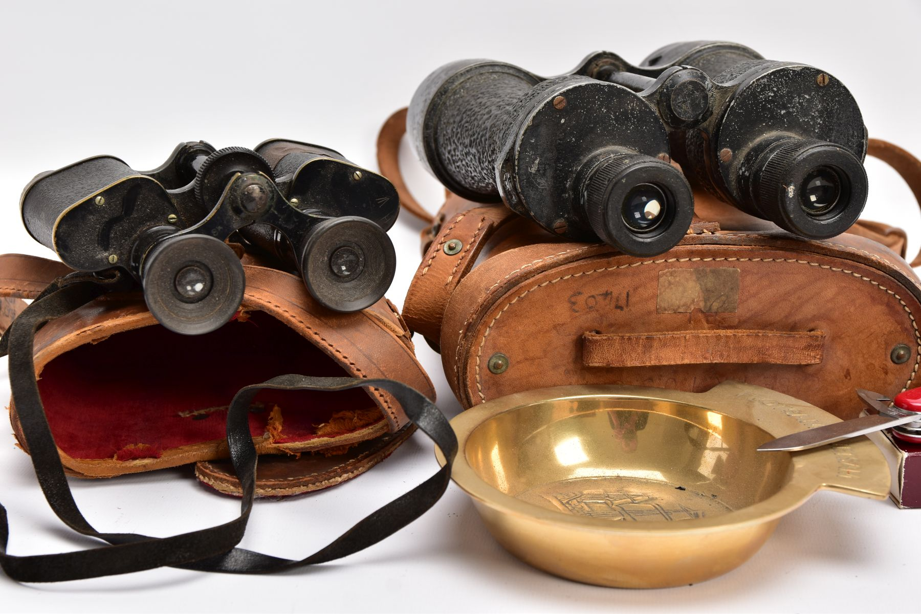 TWO BOXED PAIRS OF MILITARY BINOCULARS, one box marked Bino prism No.5 MKI, the other pair is crow - Image 7 of 8