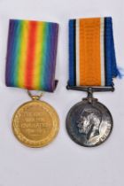 A BOXED PAIR OF BRITISH WAR AND VICTORY MEDALS NAMED TO 62291 Pte J.C.Bentley, West York Regiment,