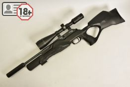 A .177'' WALTHER ROTEX RM8 VARMINT ULTRA COMPACT PCP AIR RIFLE, serial number R0017151, fitted
