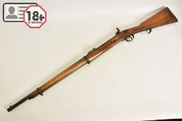A .577'' VOLUNTEER PATTERN P53 TWO BAND PERCUSSION RIFLE BEARING POST 1855 BIRMINGHAM COMMERCIAL