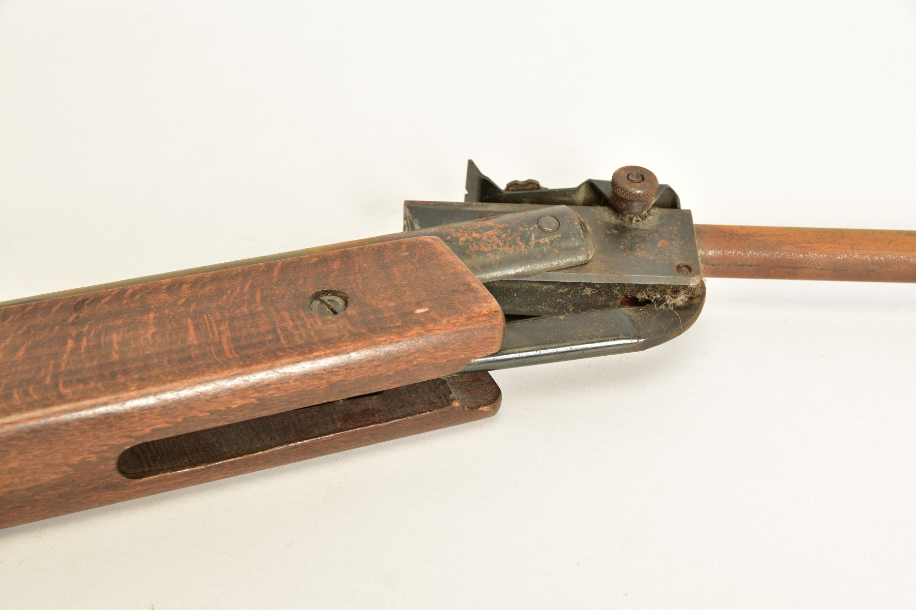 A .22'' BREAK ACTION SPRING AIR RIFLE, serial number 05 88 g in working order marked 'Made in - Image 5 of 12