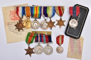 A GROUP OF ELEVEN MEDALS COVERING WWI AND WWII, including the Imperial Service Medal and the