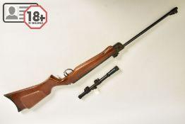 A .22'' WEBLEY & SCOTT HAWK MK 1 AIR RIFLE bearing serial number 6511, it comes with Webley 4 x 15