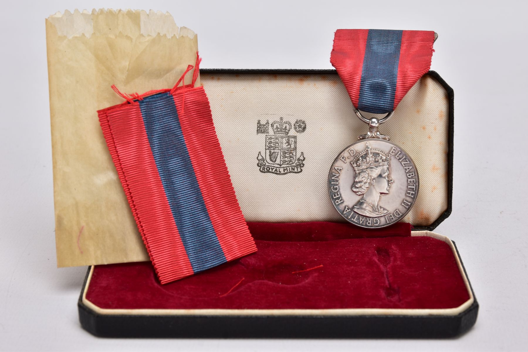 A BOXED ROYAL MINT IMPERIAL SERVICE MEDAL named to Hubert Martin, ERII Dei-Gratia 1955 version - Image 3 of 4