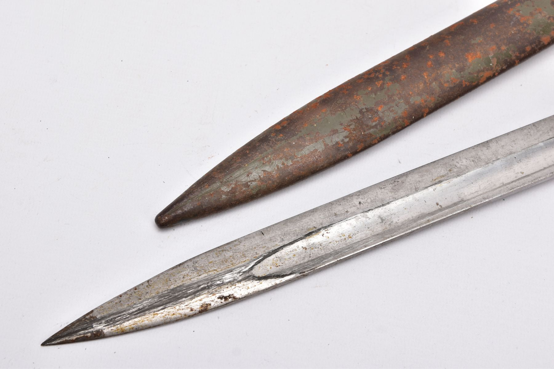 A GERMAN ERSATZ BAYONET AND SCABBARD, this example believed to be the shortened Turkish variant, - Image 6 of 6