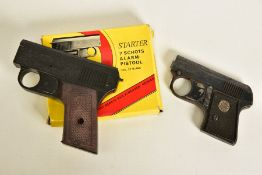 AN ITALIAN .22'' BLANK STARTING PISTOL with a magazine and original box, together with .22'' Blank
