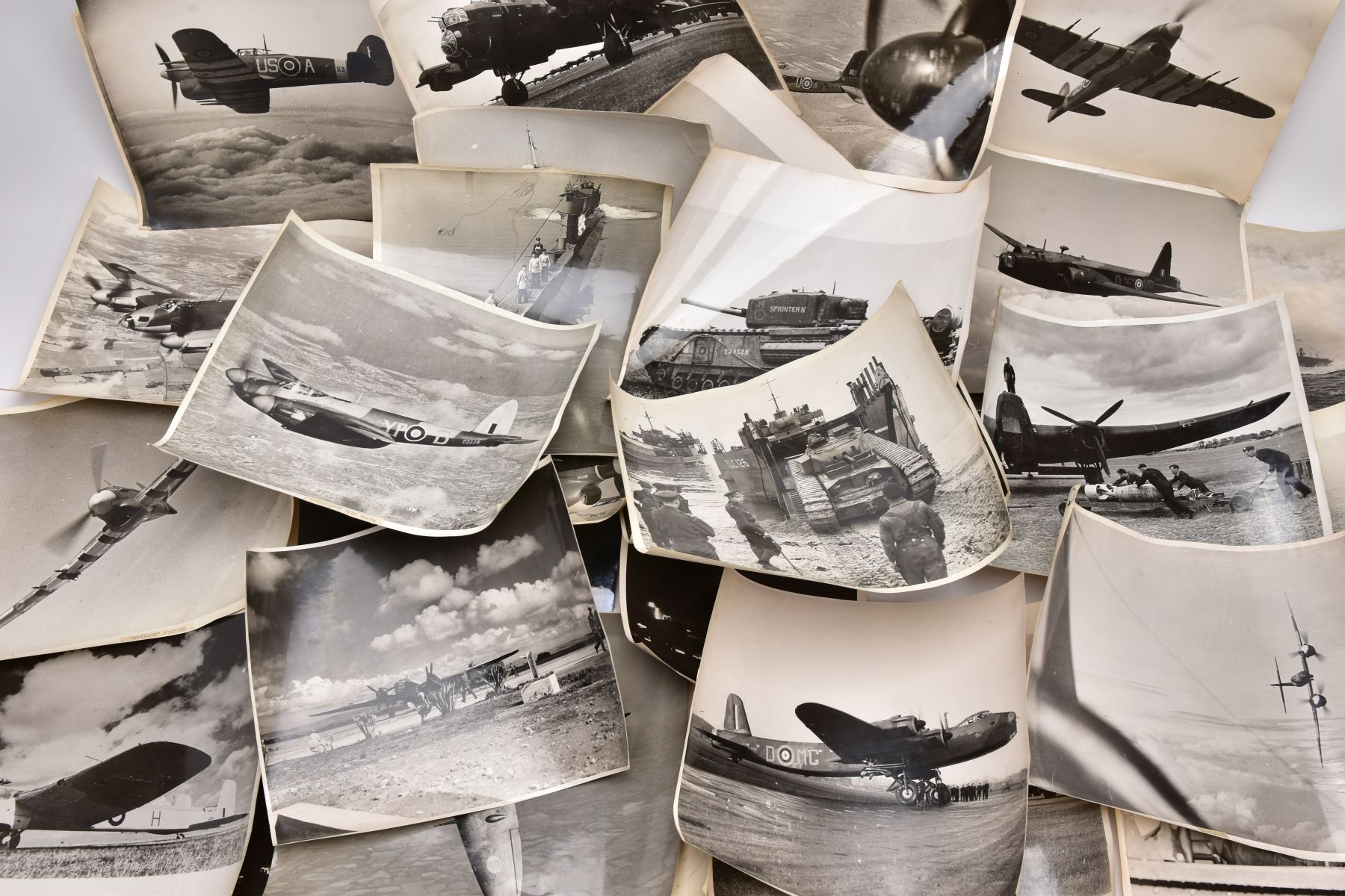 A BOX FILE CONTAINING A LARGE NUMBER OF PHOTOGRAPHS IN BLACK AND WHITE, all taken by official - Image 2 of 10