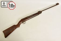 A .22'' DIANA MODEL G27 AIR RIFLE, it is in working order and complete but its former blue