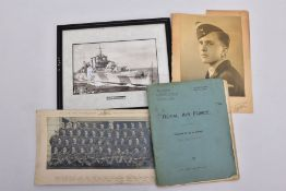 A SMALL BUNDLE OF WWII PERIOD EPHEMERA relating to Airman 1868330 J.Ledbrook RAF, he was part of
