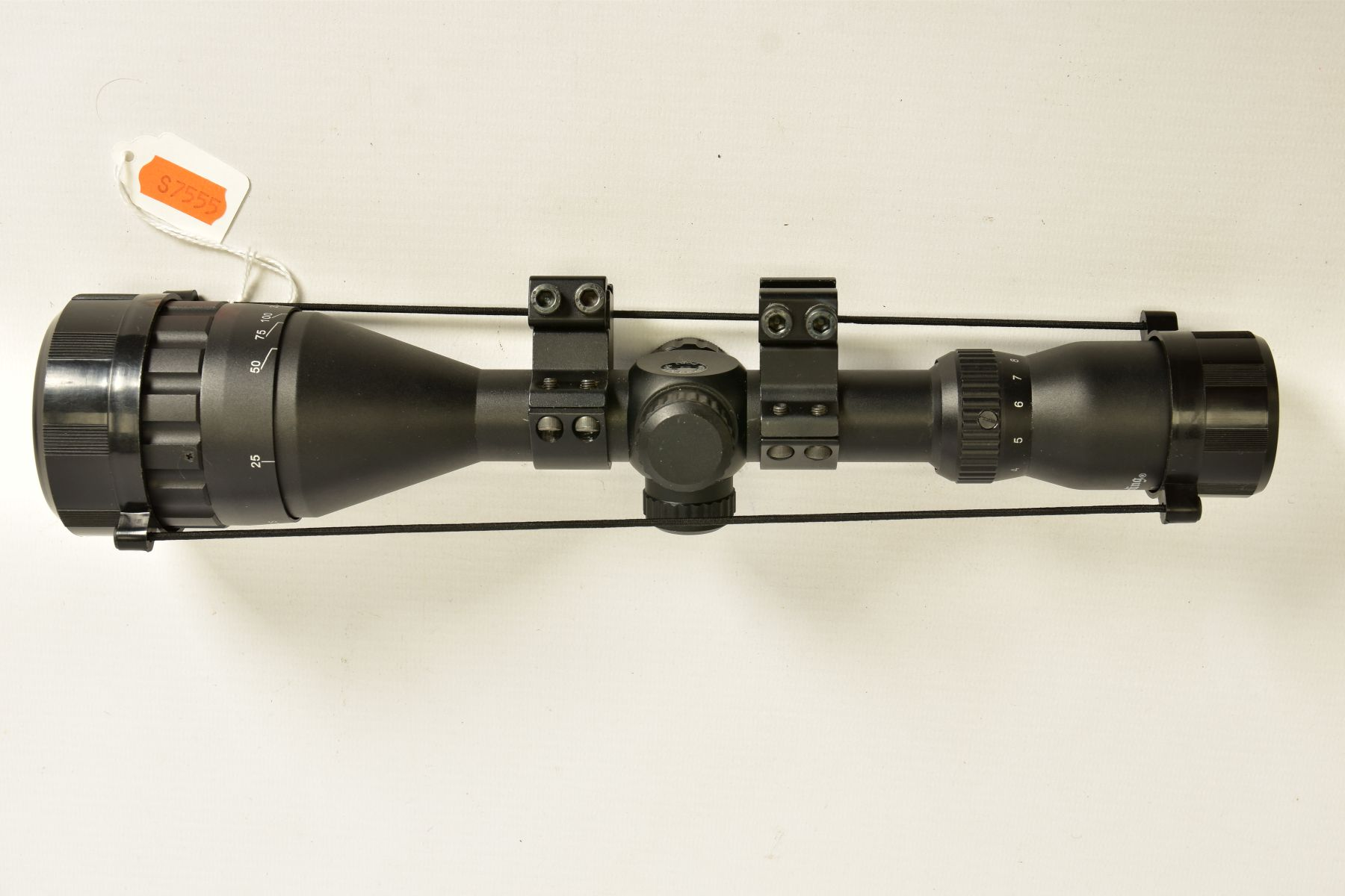 A NIKO STIRLING 3.9 X 50 RIFLE SCOPE and mounts, it appears to be in unused condition - Image 8 of 8