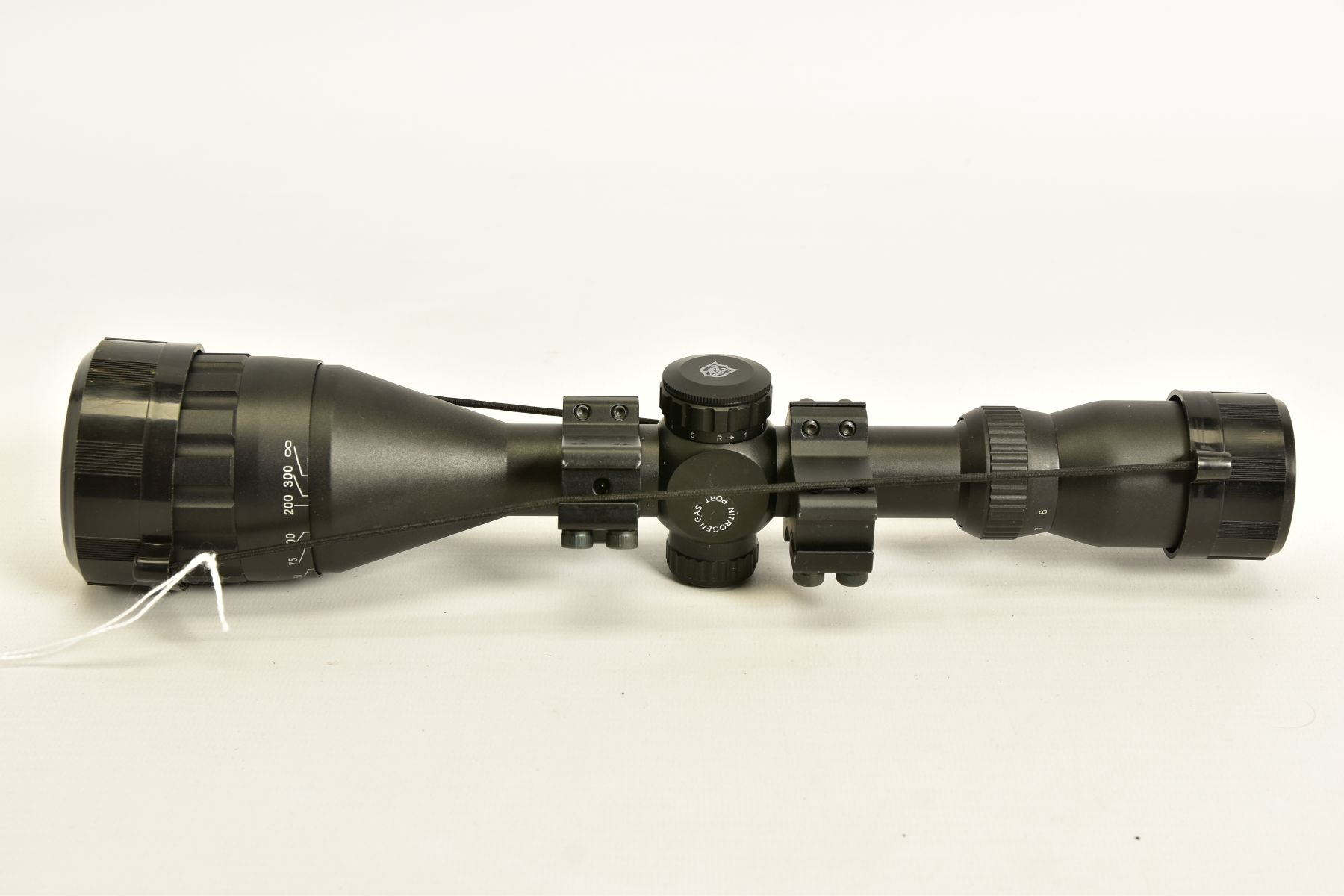 A NIKO STIRLING 3.9 X 50 RIFLE SCOPE and mounts, it appears to be in unused condition - Image 7 of 8