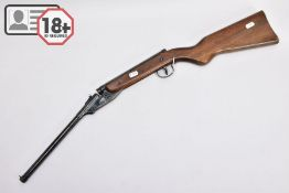 A SMOOTH BORE .177'' DIANA MODEL 16 AIR GUN marked Made in Great Britain which later changed to