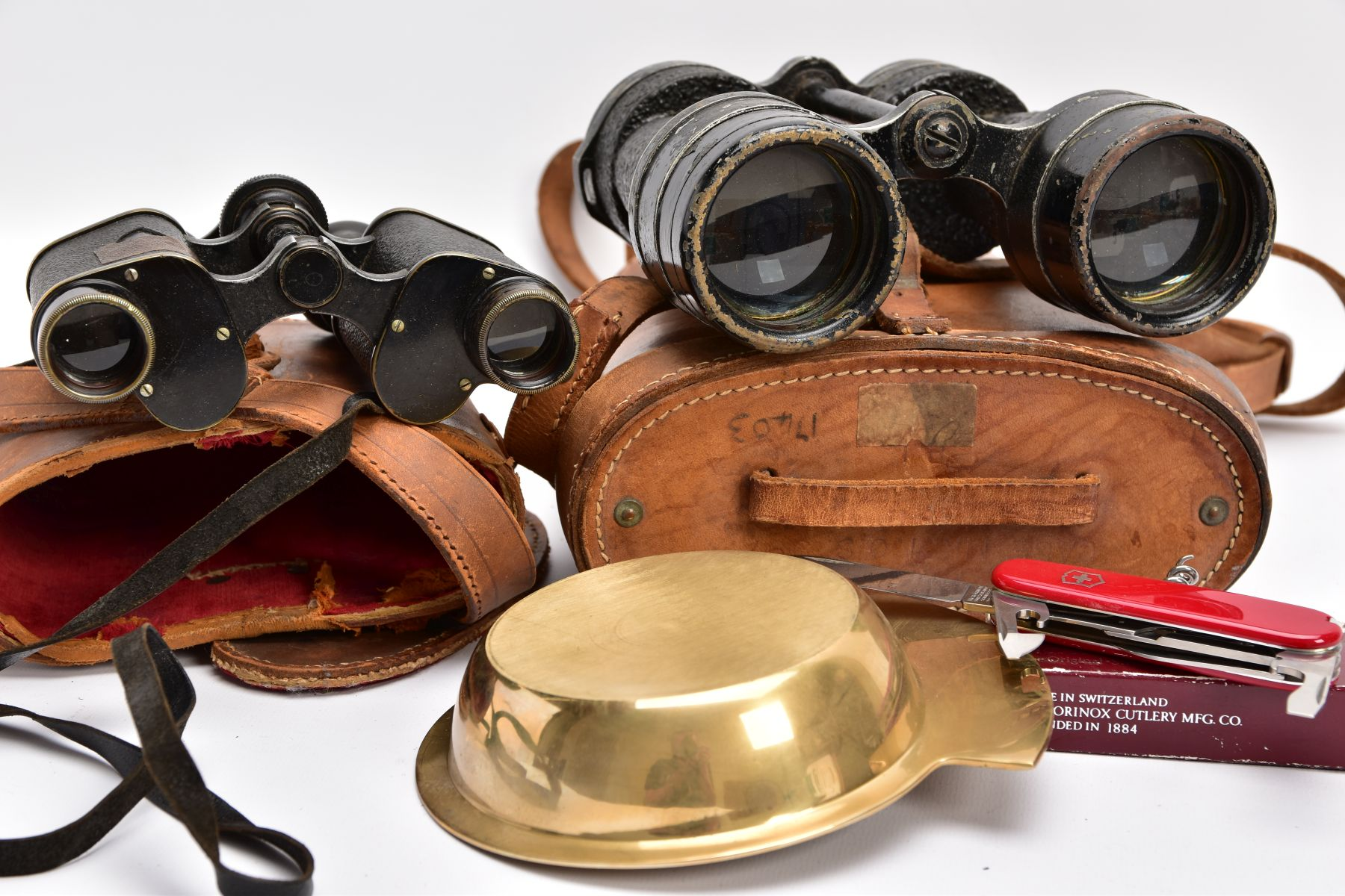 TWO BOXED PAIRS OF MILITARY BINOCULARS, one box marked Bino prism No.5 MKI, the other pair is crow - Image 8 of 8