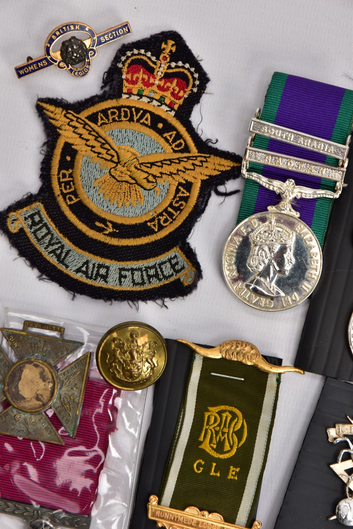 A BOX CONTAINING VARIOUS COPIES OF MILITARY RELATED MEDALS to include Military Medal Geo VI, GSM 2 - Image 6 of 8