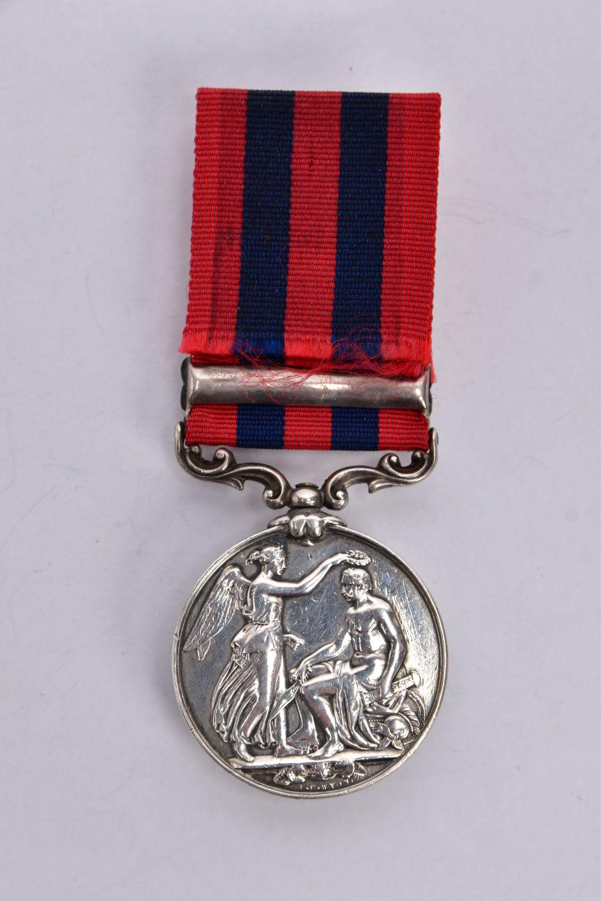 INDIA GENERAL SERVICE MEDAL 1854, Bar Pegu, named on rim John Haniin 51st K.C.Lt Infantry - Image 3 of 8