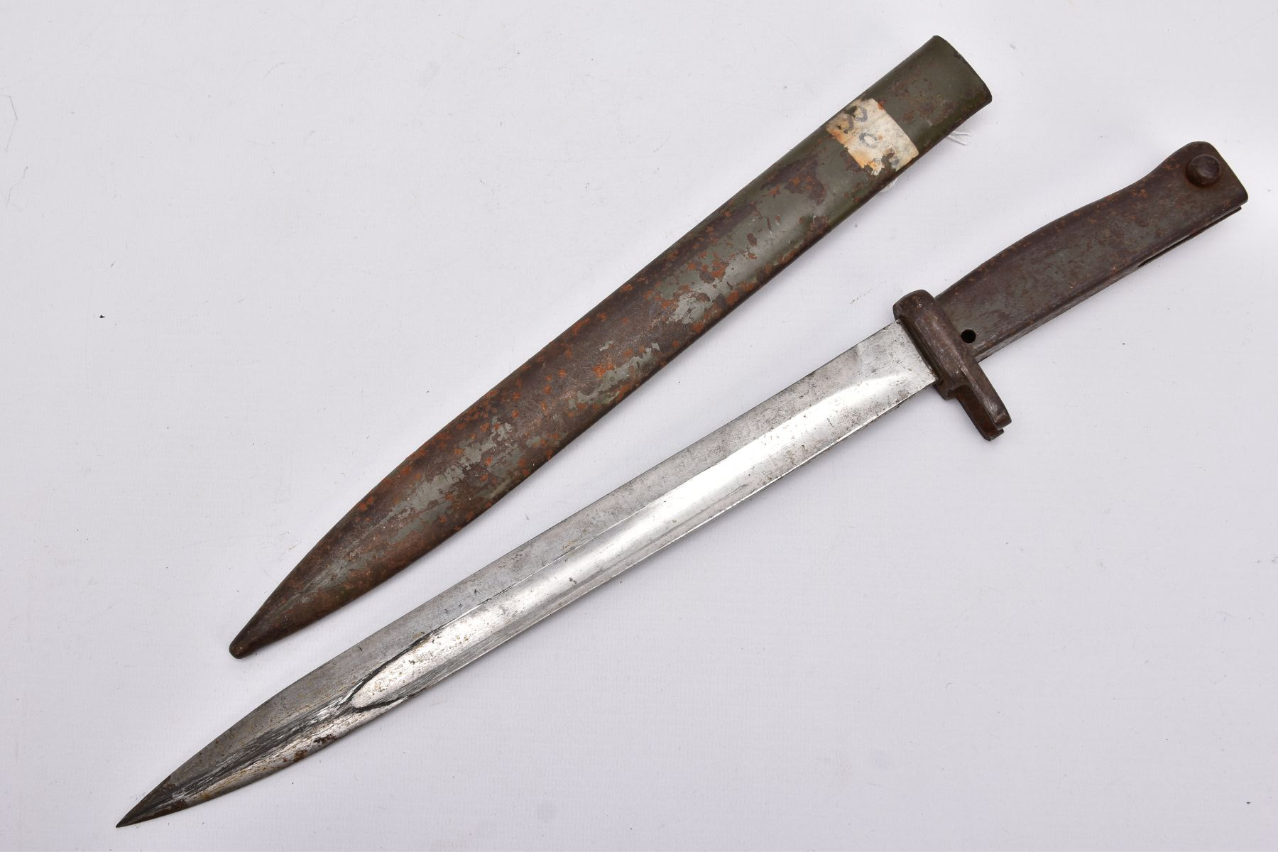 A GERMAN ERSATZ BAYONET AND SCABBARD, this example believed to be the shortened Turkish variant, - Image 4 of 6