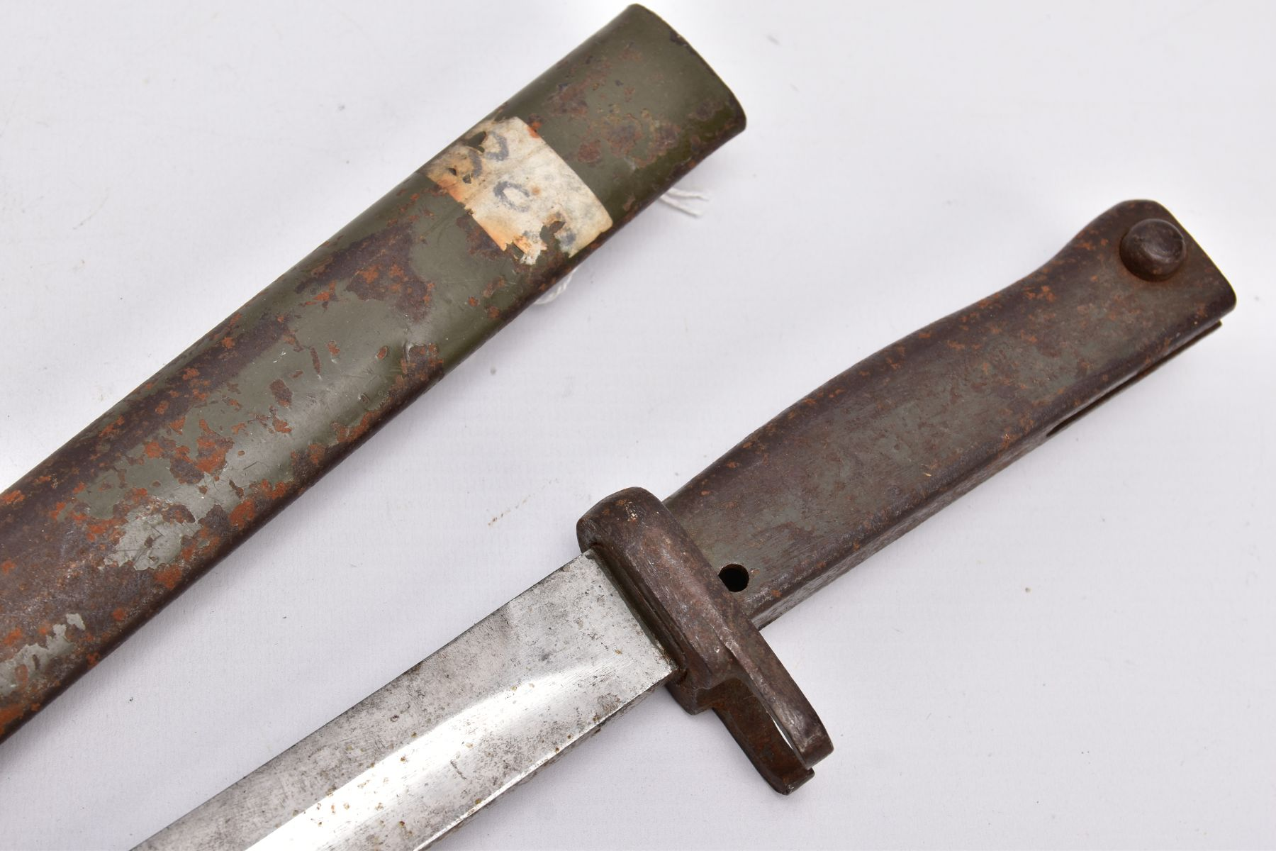 A GERMAN ERSATZ BAYONET AND SCABBARD, this example believed to be the shortened Turkish variant, - Image 5 of 6