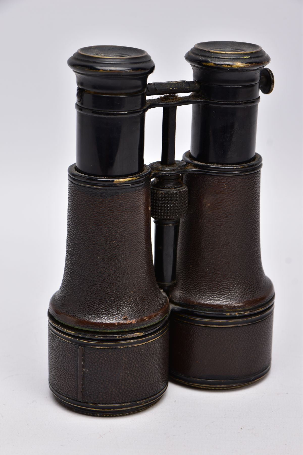 A PAIR OF WWI ERA BINOCULARS likely French manufacture, no makers marks, but they are marked '