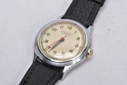 A GENTS 'AVIONAL' WRISTWATCH, hand wound movement, round champagne dial signed 'Avional