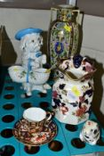 CERAMICS AND SILVER comprising a Royal Crown Derby Harvest Mouse (no stopper), teacup and saucer,