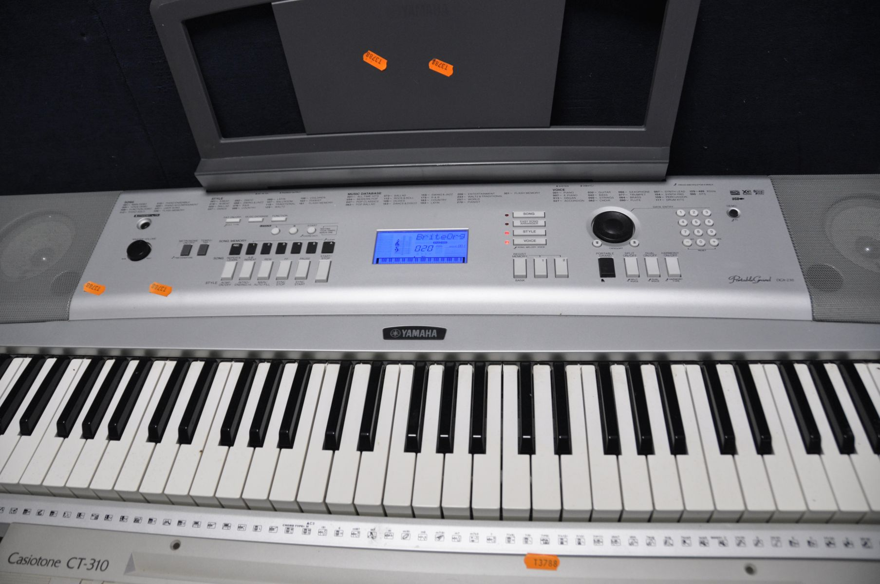 A YAMAHA DGX-230 PORTABLE GRAND KEYBOARD with power supply (PAT pass and working) and a Casio - Image 2 of 3