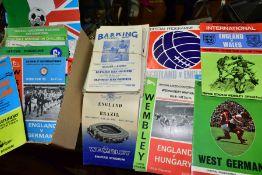 FOOTBALL PROGRAMMES - NON LEAGUE, SCOTTISH LEAGUE, CUP FINALS AND INTERNATIONALS, a rare